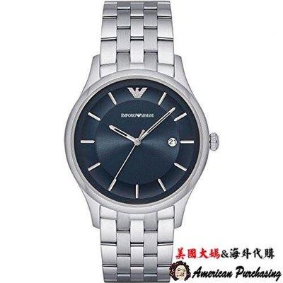 美國大媽代購 EMPORIO ARMANI 亞曼尼手錶 AR11019 藍面計時腕錶 手錶 歐美代購