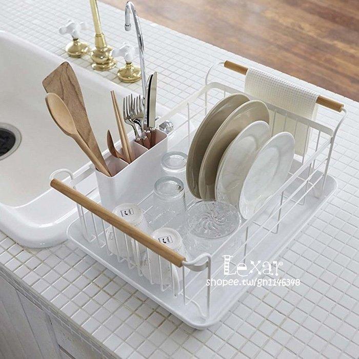 日式鐵藝碗架筷子瀝水架廚房餐具置物架收納盤子瀝晾洗濾放碗筷盒