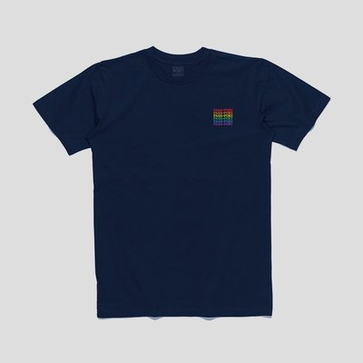 《 Nightmare 》PASS~PORT Official Repeat Embroidery Tee - Navy