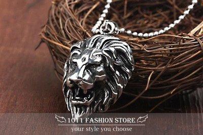 【 1011 精品小舖 】美式搖滾 龐克風 鈦鋼 / 西德鋼 獅子 公獅  獅王 男性項鍊 女性項鍊 B0FA3-1