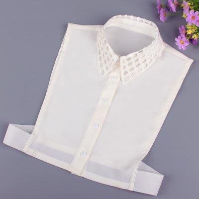 假領子 襯衫 領片-米白鏤空尖領雪紡女裝配件73va29[獨家進口][米蘭精品]