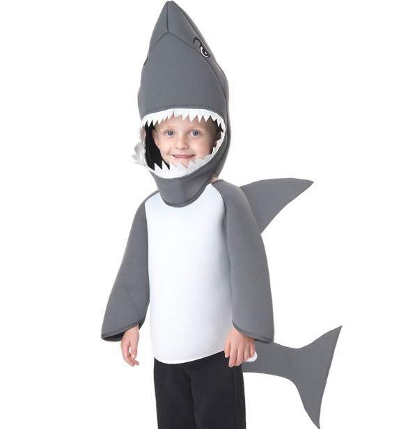 🎃❤現貨N079❤萬聖節兒童鯊魚扮演裝扮服裝 萬聖節兒童鯊魚cosplay party裝扮 萬聖節 聖誔節(長袖)