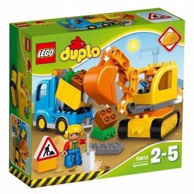 樂高積木LEGO得寶 DUPLO系列 LT10812 Truck & Tracked Excavator
