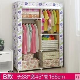【免運費】衣櫃布衣柜鋼管加固加粗簡易布藝衣柜大號防塵雙人組合收納衣櫥QD3C-Y377