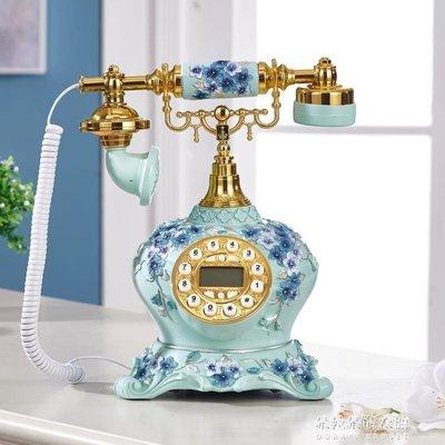 新款歐式田園電話機座機電話家用仿古時尚創意高檔奢華復古電話機