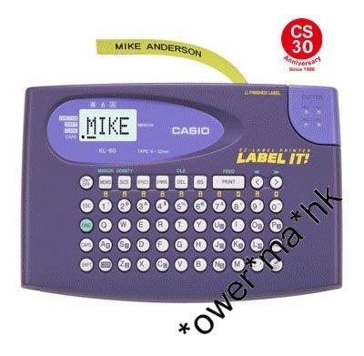 Casio KL-60英文電子標簽機/casio標籤機/跟機附送9mm標籤帶/labelling machine(團購價)