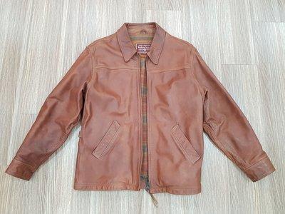 marlboro Classics 絕版經典棕色腰身純牛皮皮衣 L 義大利製