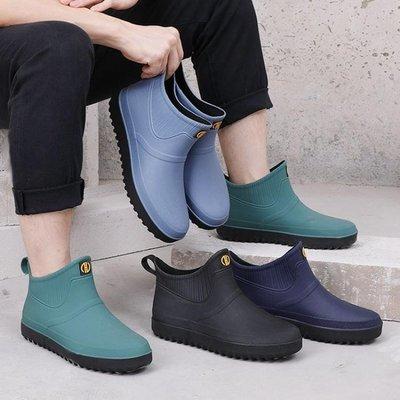 雨鞋 防水防滑雨鞋男士時尚成人加絨雨靴低幫勞保短筒水鞋 16 後街五號 -