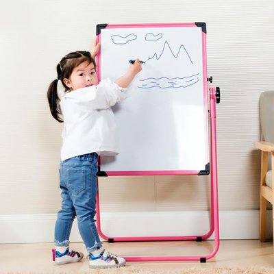 兒童畫畫板畫架可升降雙面磁性支架式小黑...