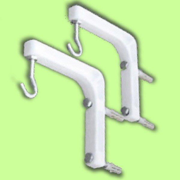 5Cgo【權宇】簡便投影機銀幕布幕掛架掛鉤吊架支架直角吊架L架耐重30Kg 離牆14-16公分 一標三對組特價組合 含稅