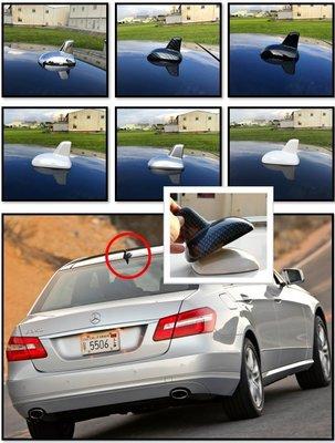 圓夢工廠 賓士 Benz E W212 V212 S212 改裝 車頂 鯊魚鰭天線蓋飾貼 鍍鉻銀 碳纖紋