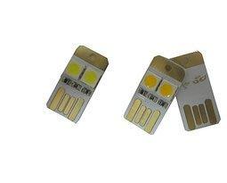 電腦鍵盤燈 超小迷你USB燈 LG光源 移動電源USB燈 小胖墩雙面插 W1 [45855]