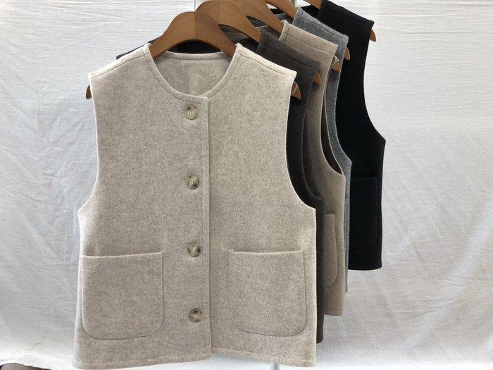 C-Ting簡約韓國  羊毛30%內刷毛質感背心/100%韓國空運