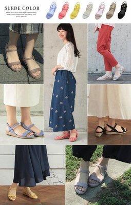 外貿原單夏季新款日單涼鞋爆款小坡跟平底露趾簡約草編羅馬涼鞋女