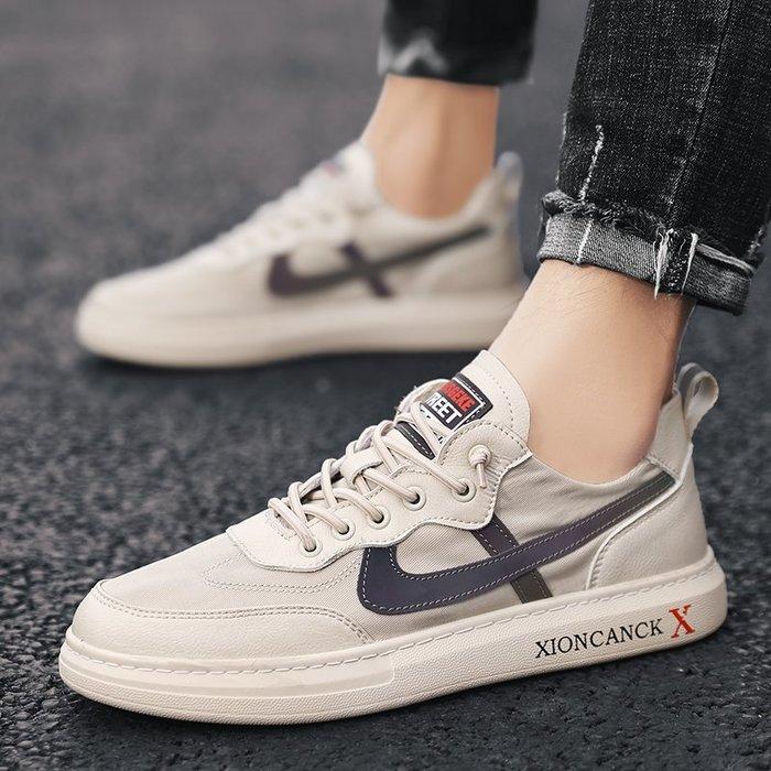 TIME&NES~板鞋男鞋2020春季新款復古帆布鞋男夏季透氣男士休閒鞋網紅潮鞋男