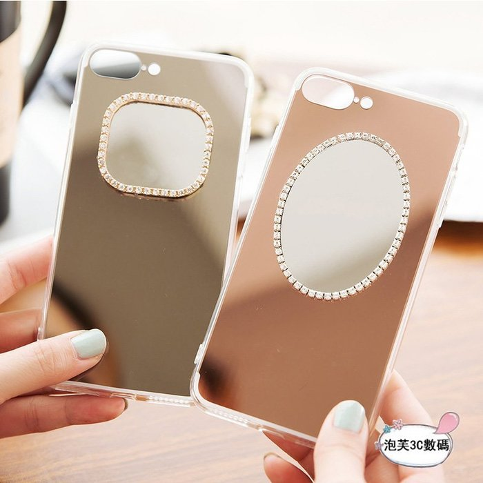 《泡芙》 OPPO R11S R11 R9S R9 PLUS 日韓風 電鍍鏡面 化妝鏡子 簡約時尚 軟殼全包 防摔