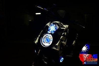 GAMMAS HID 台中廠 三葉YAMAHA BWS'X 大B 鐵男-9晶LED滿天星 光圈   鋼鐵人 小燈02