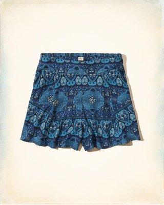 【天普小棧】HOLLISTER HCO High Rise Drapey Shorts高腰休閒短褲裙印花S號現貨抵台