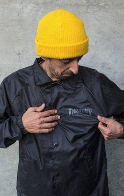 【THRASHER】skate and destory coach jacket教練夾克 (黑色)