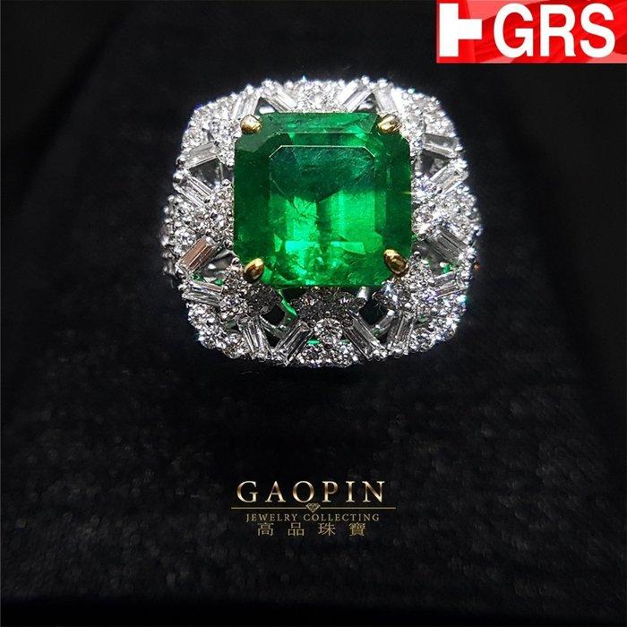 【高品珠寶】GRS哥倫比亞極微油木佐祖母綠戒指(已售出可訂製) #2095
