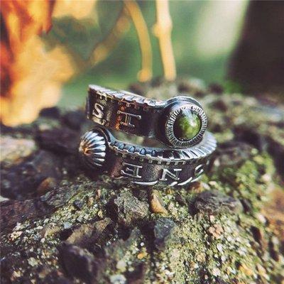 梵玉善緣 Legend Of Vagrant 摩根銀幣非洲松石925銀飾純銀戒指可調