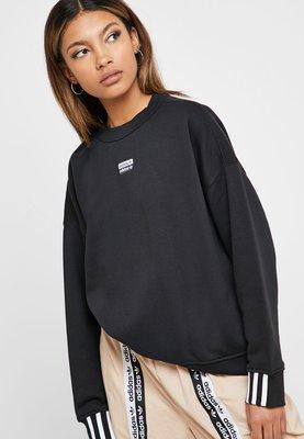 =E.P=Adidas Sweatshirt 女裝 寬版 運動 休閒 大學T 黑 ED5845 白 ED5847