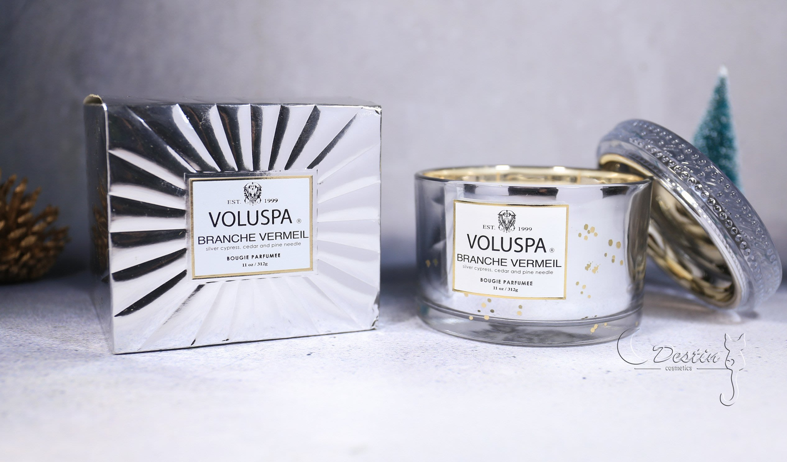 Voluspa 美國 香氛精油蠟燭 皇家森林 Branche Vermeil 11 oz 玻璃質感瓶身 全新 精美包裝