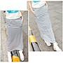 【Hao Da】全館399免運↘「M~XL。現貨」條文 素面 開岔 彈力棉質 口袋長裙 (P1092)