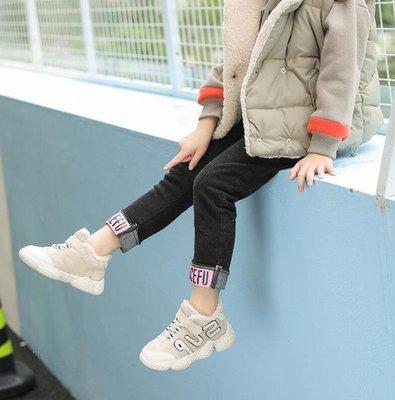 ZIHOPE INS超火的鞋子女童運動冬季加絨新款寶寶棉鞋韓國兒童椰子休閒鞋ZI812