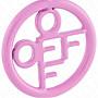 【WEEKEND】 OFF WHITE Round Logo 單邊 耳環 粉色 20春夏