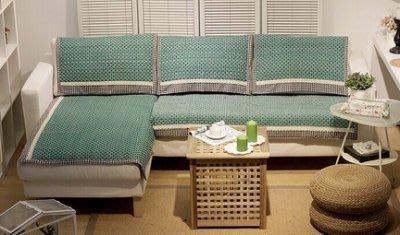 【易發生活館】湖泊蕾絲花邊布藝加厚沙發墊坐墊子 沙發巾防滑歐式皮沙發套