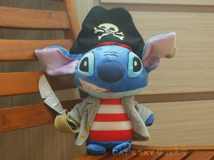 《Cat Sky》日本帶回.迪士尼Disney超可愛Stitch海盜史迪奇L號