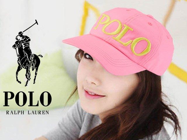 特價899 Polo Ralph Lauren Hat 粉紅色女孩Logo運動休閒鴨舌帽棒球帽遮陽防曬 愛Coach包包