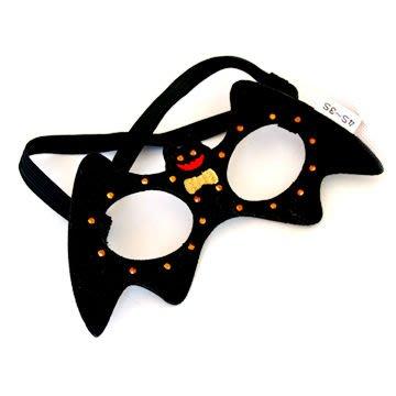 貝果貝果 日本 pet paradise 萬聖節 蝙蝠俠 造型眼罩  [A531]