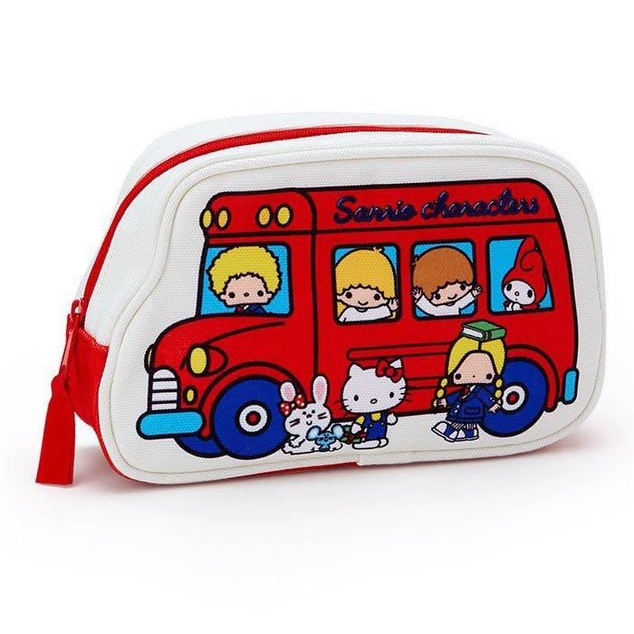 《東京家族》三麗鷗家族 經典懷舊 巴士 帆布化妝包/收納袋/筆袋