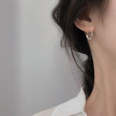 sppgge ONE~冷淡風耳環韓國氣質簡約耳環2021新款潮網紅高級感耳環女純銀耳飾