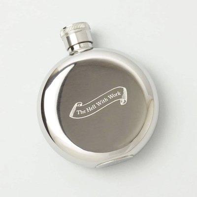 【紐約IZOLA】THE HELL WITH WORK不銹鋼小酒瓶3oz不鏽鋼小酒壺 隨身酒瓶 攜帶瓶燒瓶 復古隨身酒壺