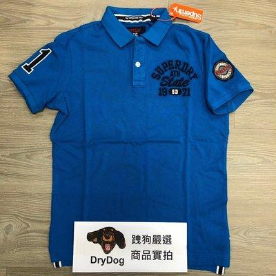 跩狗嚴選 極度乾燥 Superdry Polo 衫 印度製 超級共和國 短袖 純棉 重磅 合身版型 熱帶 藍