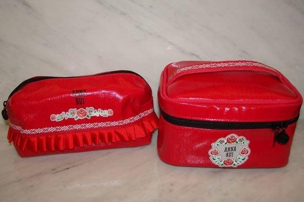 【∮魔法時光∮】ANNA SUI 安娜蘇 薔薇之馨手提包+化妝包組合(婚宴送賓客非常大方)
