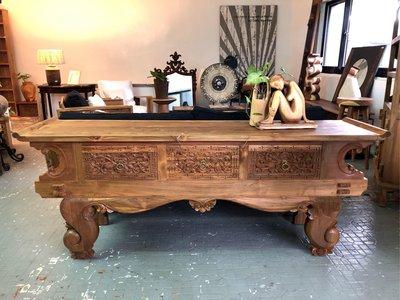 柚木手工雕花櫃- Bantul Console Table