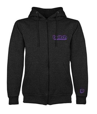 【丹】A_Twitch Purple Logo Zipup Hoodie 連帽 外套