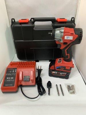 鋰電無刷衝擊起子 通用米沃奇 21V(18V)單電池 4.0AH 簡配 /大功率無刷開關/無刷電動工具   保固半年