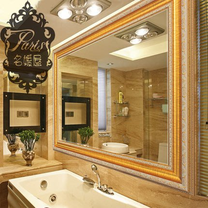 歐式 奢華金 富貴 美式鄉村 浴室鏡 穿衣鏡 全身鏡 玄關鏡 化妝鏡