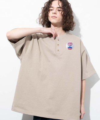 潘多拉明星同款 Soda現貨 FREAKS STORE HEAVY WEIGHT HENLY 亨利領短袖T恤 21ss