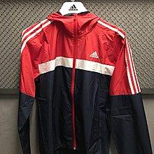 玉米潮流本舖 ADIDAS DH3997 紅白藍 輕薄 防風風衣 訓練 休閒 慢跑 男款