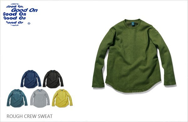WaShiDa【gobw1609p】Good On 日本品牌 厚棉 長袖 弧形下襬 棉T 大學T 衛衣