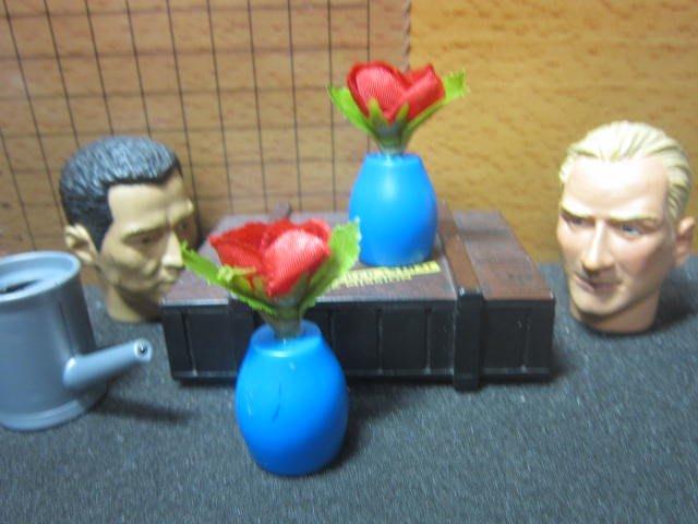 RU8休閒部門 1/6玫瑰花瓶小擺飾一個(場景品mini模型)