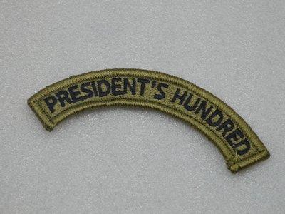 美國USARMY 總統射擊比賽優勝/President's Hundred徽章臂章 OCP