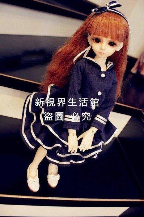 【新視界生活館】布蘭奇bjd、sd娃娃衣服6分4分3分海軍蓬裙套裝3924{XSJ317521475}