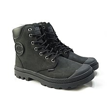 =CodE= PALLADIUM PAMPA CUFF WP+ LUX 防水皮革軍靴(全黑)76731-001 英倫 女